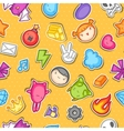 Game kawaii seamless pattern Cute gaming design vector image vector image
