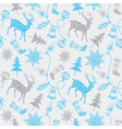 Christmas card with deers and decorations vector image vector image
