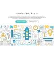 modern line flat design Real estate vector image