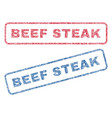 beef steak textile stamps vector image