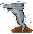 cartoon tornado vector image vector image