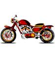 retro redmotorcycle vector image vector image