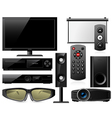 home theater equipment vector image vector image