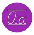Cursive letter a line icon vector image