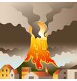 Volcano Awakened vector image vector image