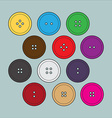 buttons for clothing vector image