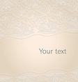 floral and lace invitation card vector image