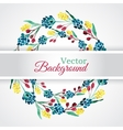 Floral watercolor wreath with flowers vector image
