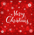 merry christmas calligraphy lettering creative vector image