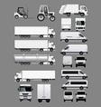 Set of Transportation Vehicles 2 vector image