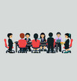 young businessmen meeting vector image