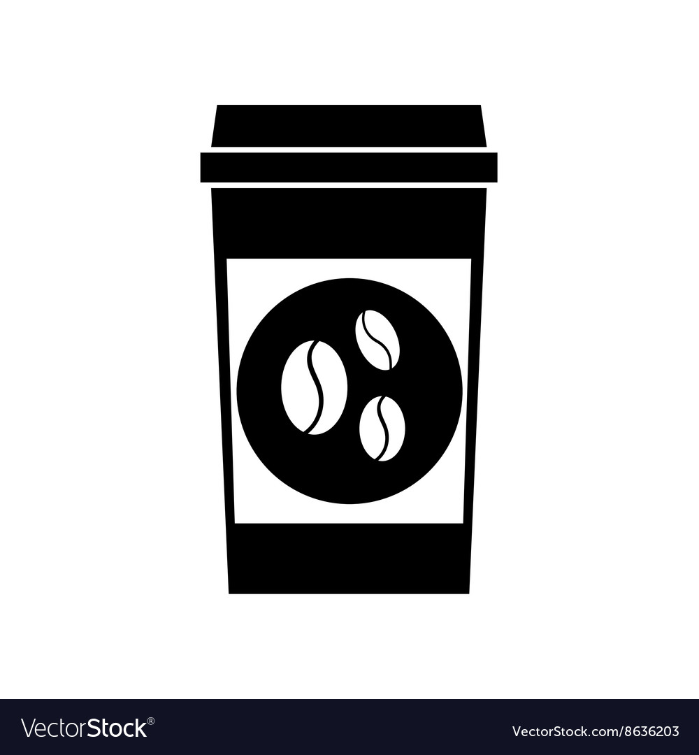 Black coffee icons vector