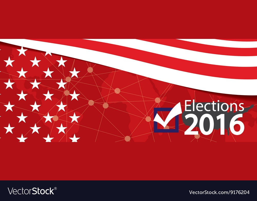 Elections 2016 banner vector