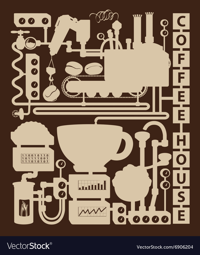 Vintage coffee house vector
