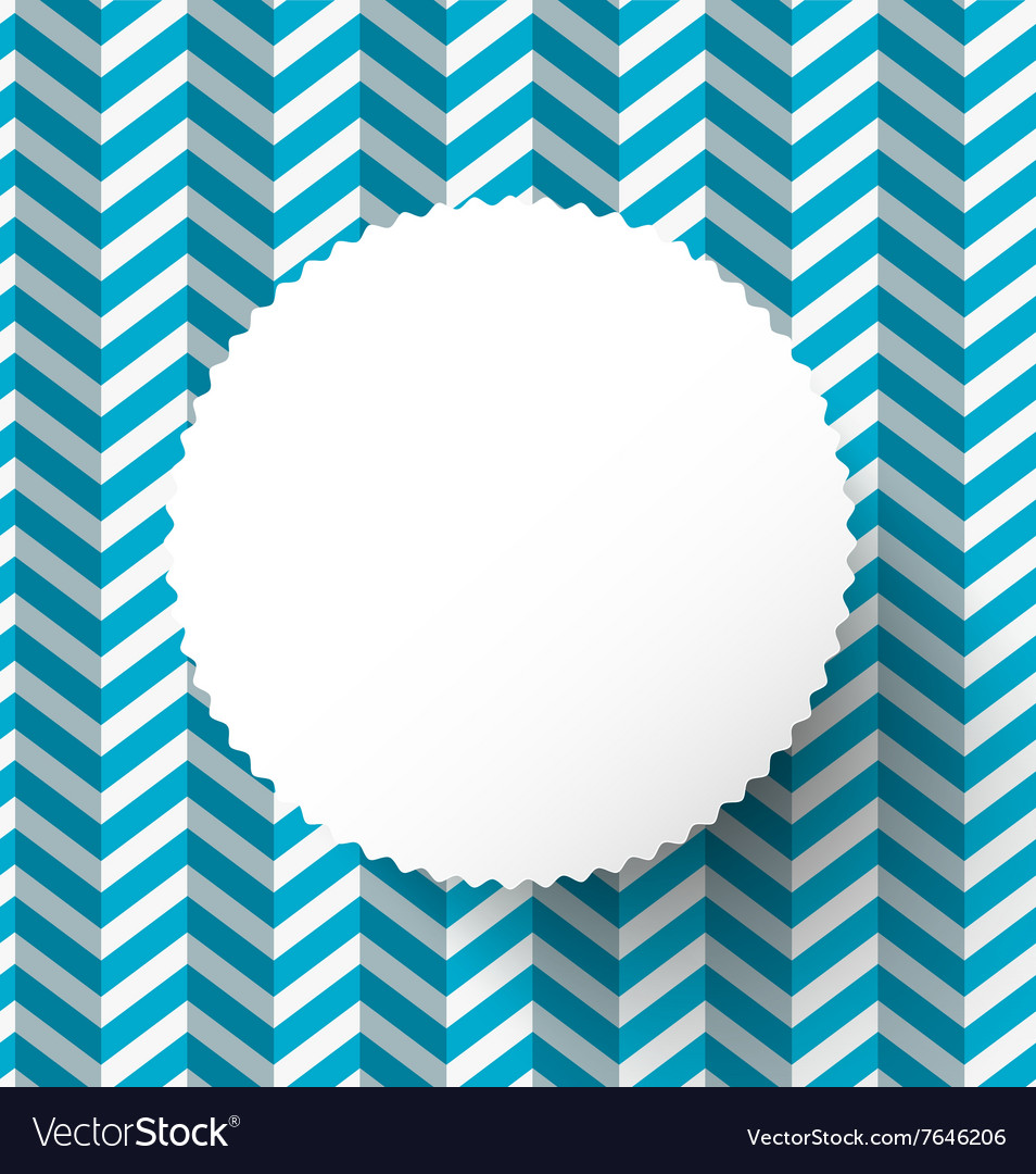 Retro blue paper background with circle label vector