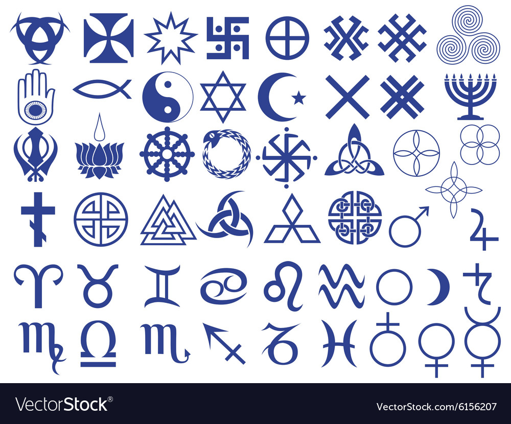 Different symbols created by mankind vector