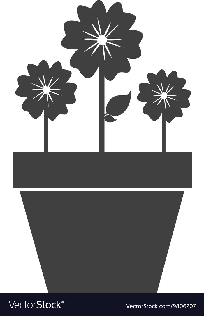 Flowers and gardening them design vector
