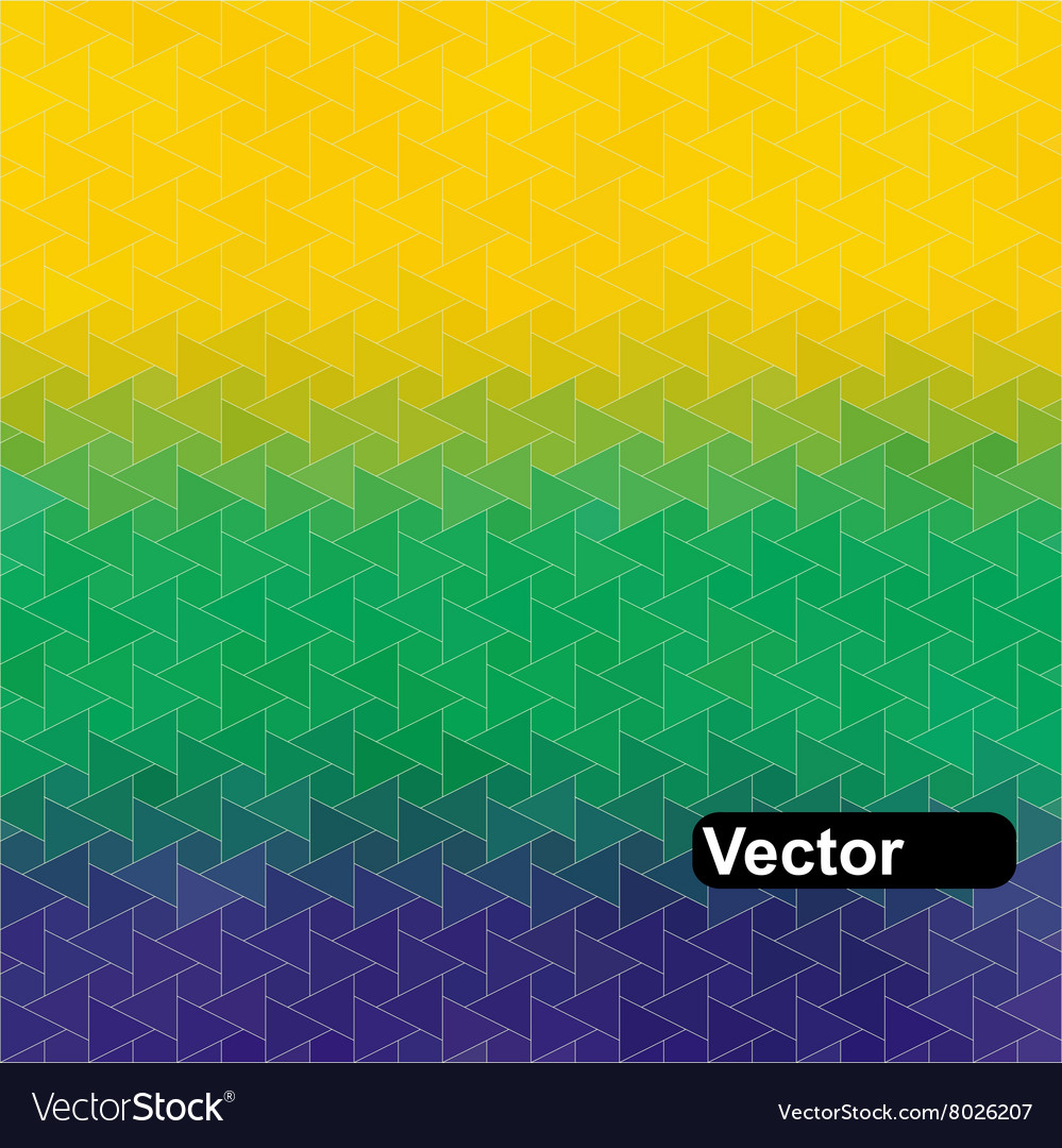 Geometric background in brazil flag vector