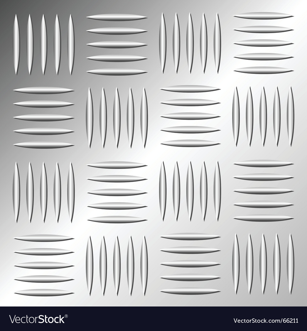Metallic floor pattern vector
