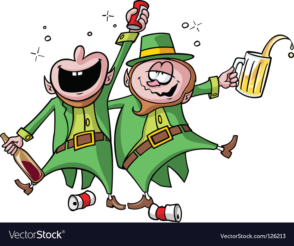 Party leprechauns vector