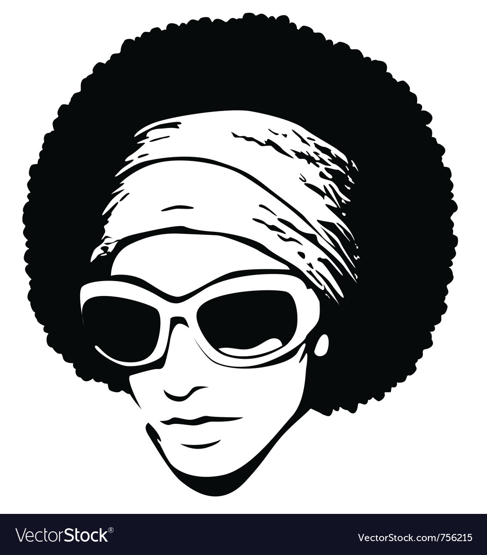 Afro hair pop art vector