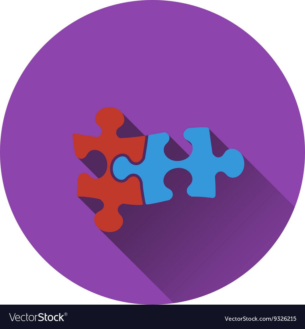Icon of puzzle decision vector