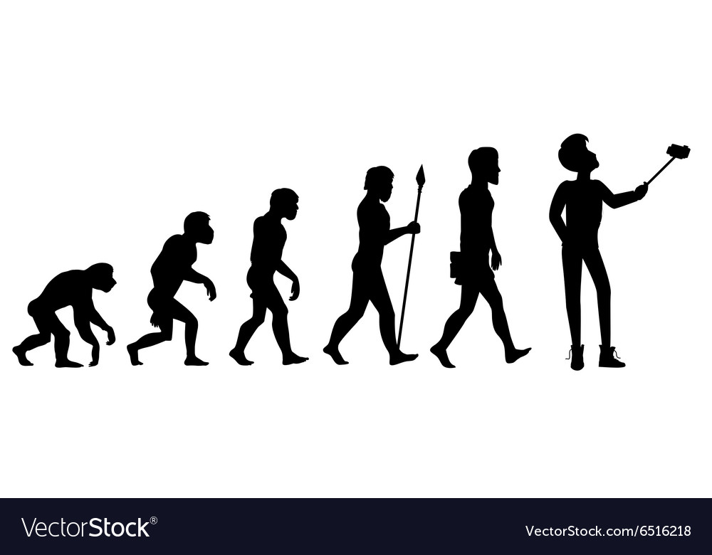 Human evolution from ape to man vector