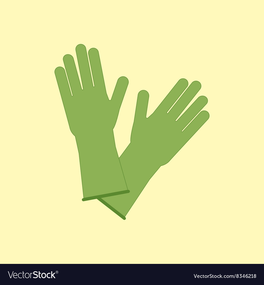 Latex rubber gloves vector