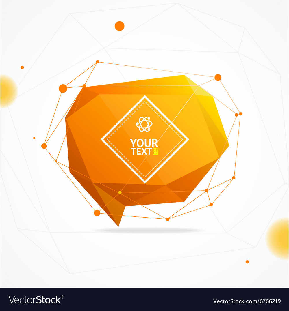 Abstract geometry background vector
