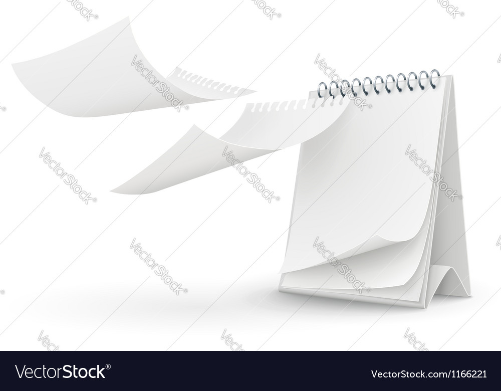 Calendar template with blank vector