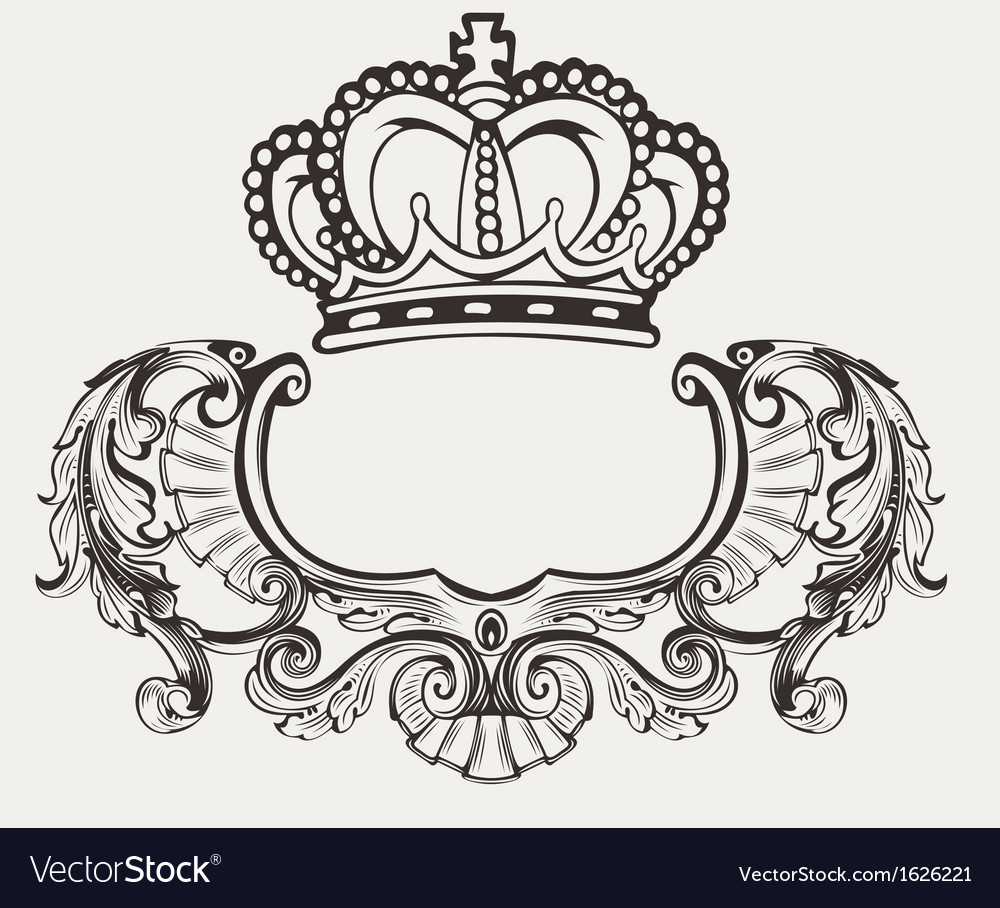 Crown crest composition vector