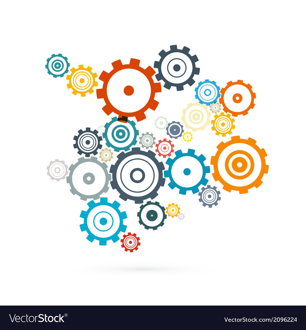 Abstract cogs  gears vector