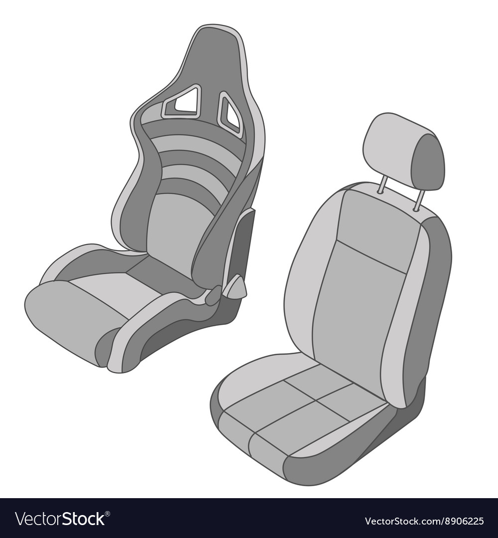 Isolated car seat set vector