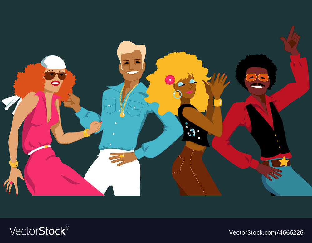 Disco club vector