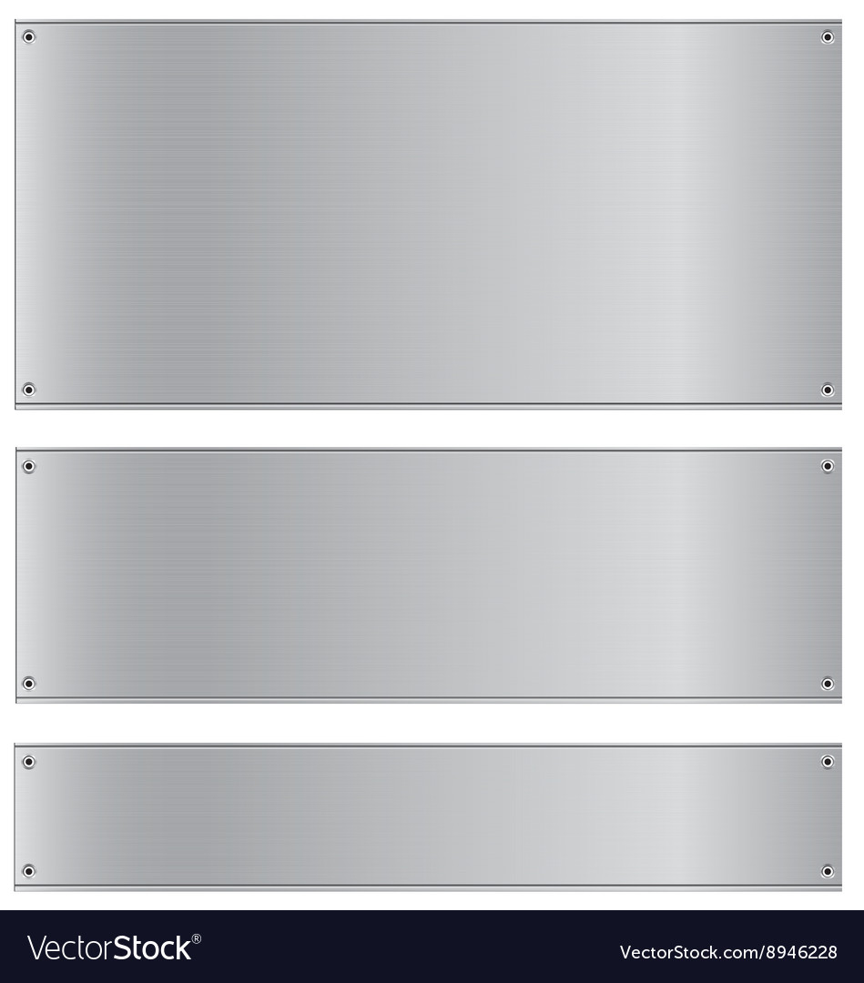 Metal background stainless and silver steel vector