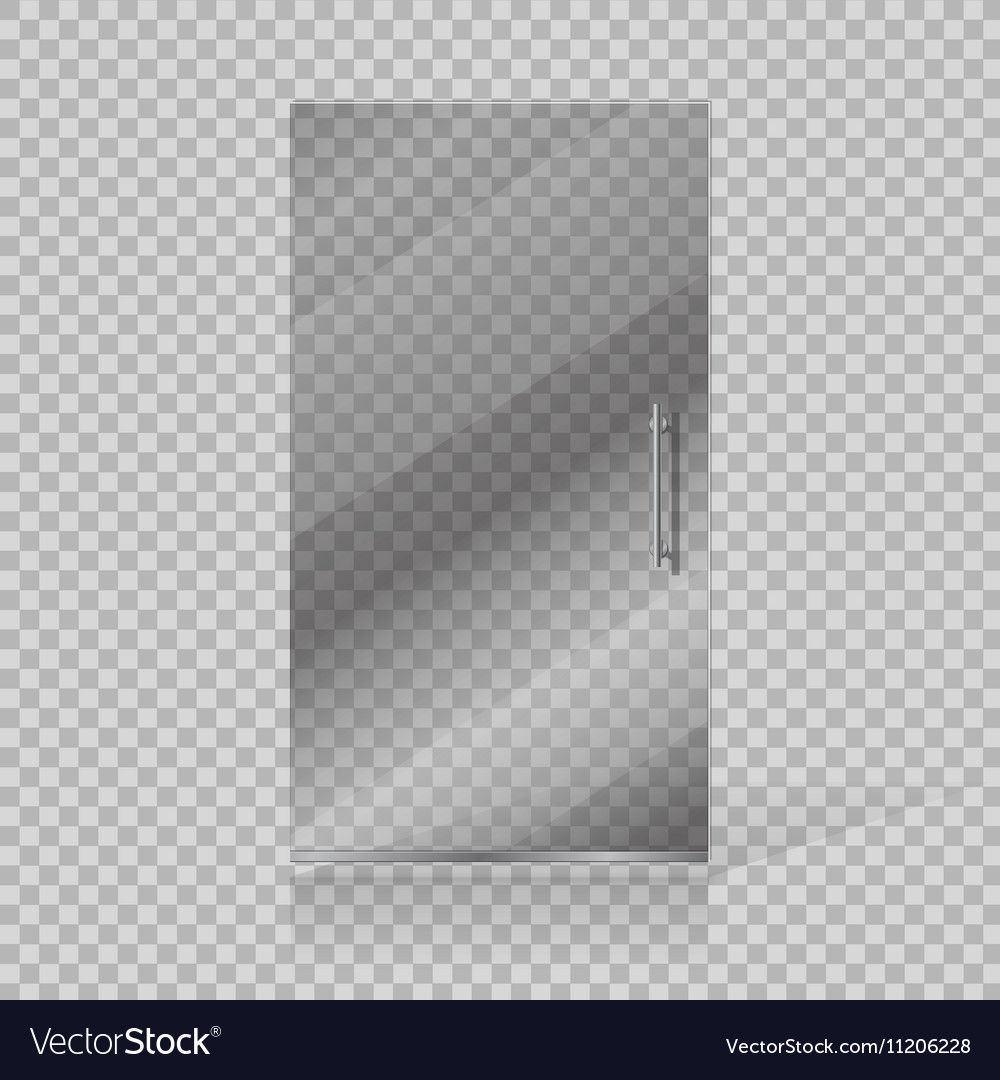 Transparent glass doors vector