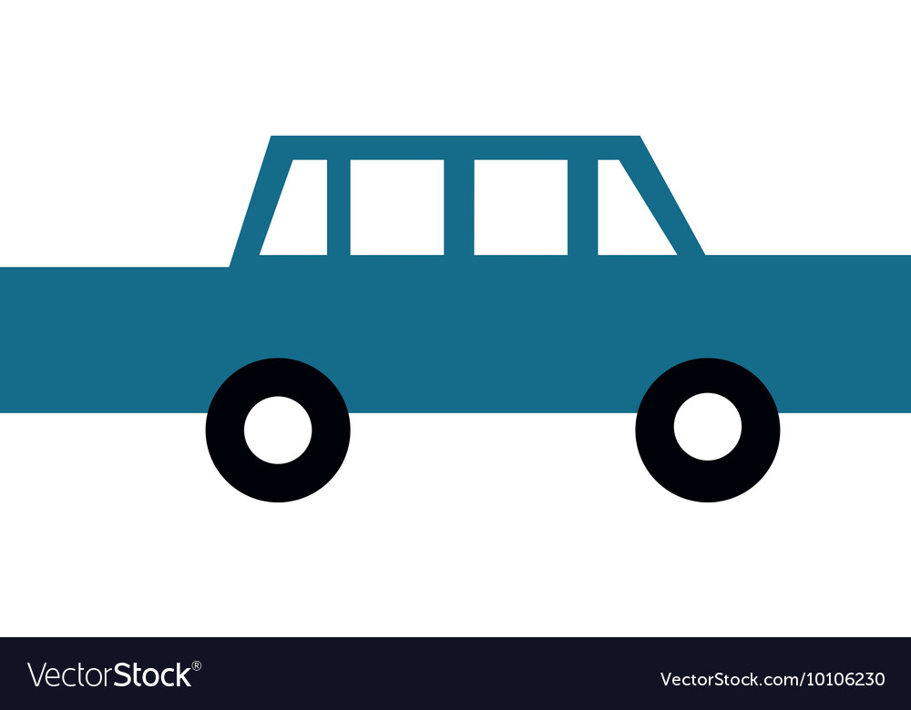 Cartoon car icon vector