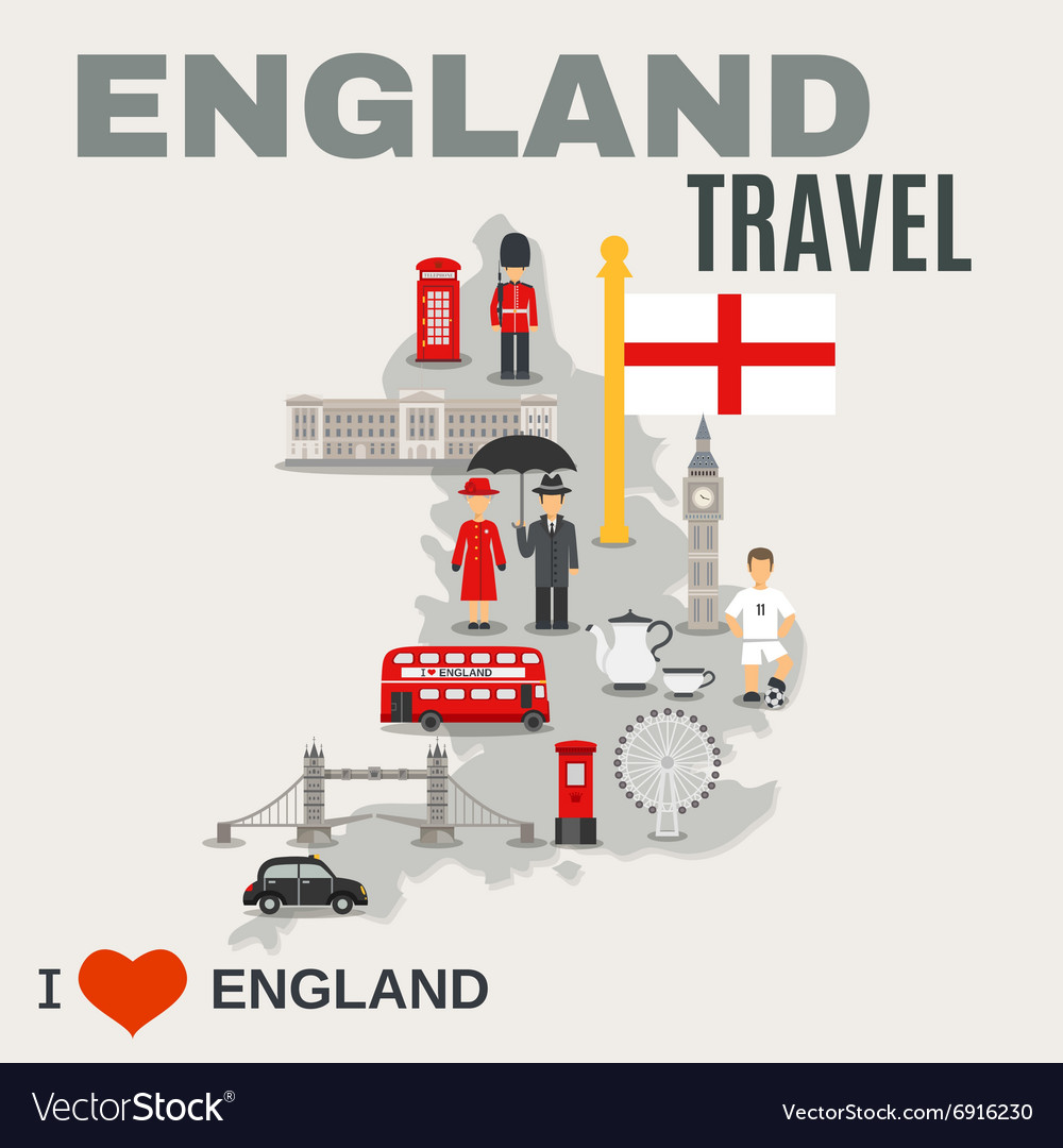 England culture for travelers poster vector