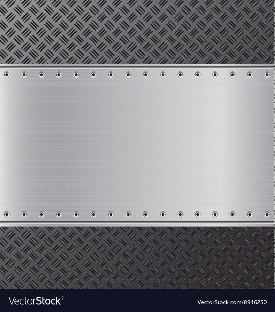 Metal background black and silver steel background vector