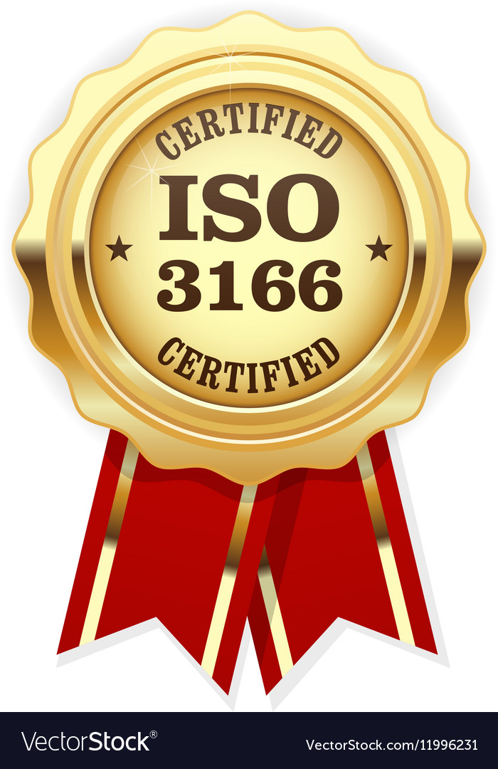 Iso 3166 standard rosette  country codes vector