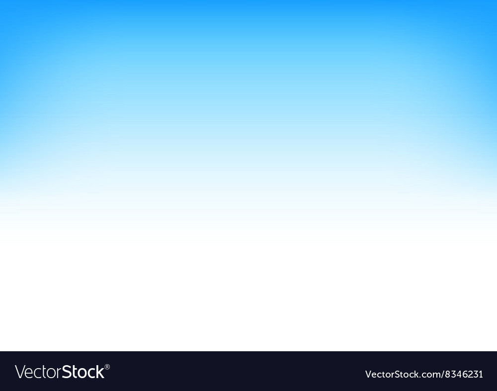 White blue sky gradient background vector