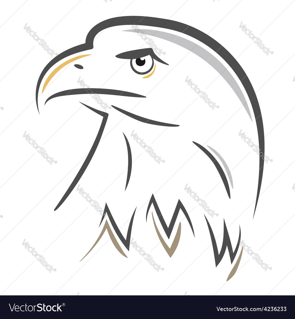 Stylized eagle head design vector