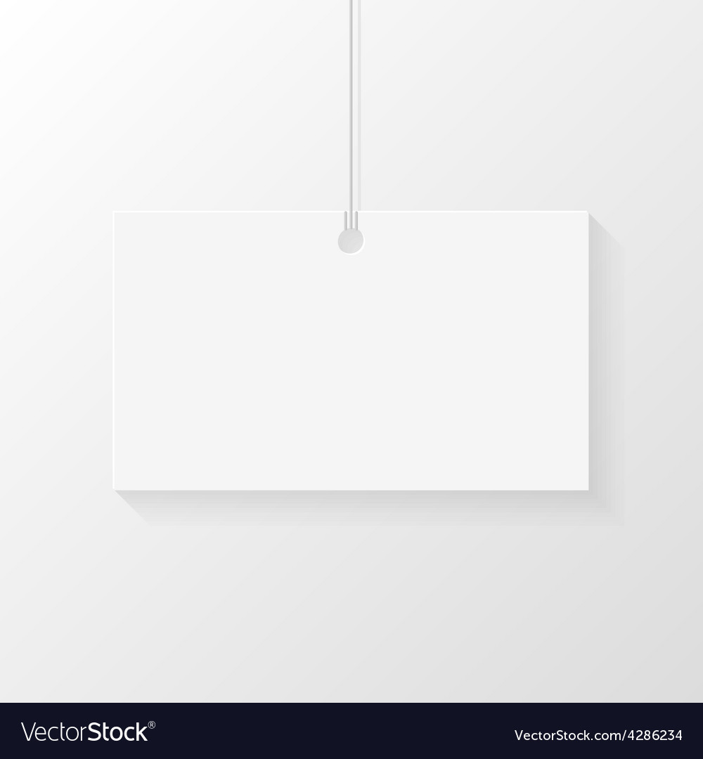 Card hanged on shoelace vector