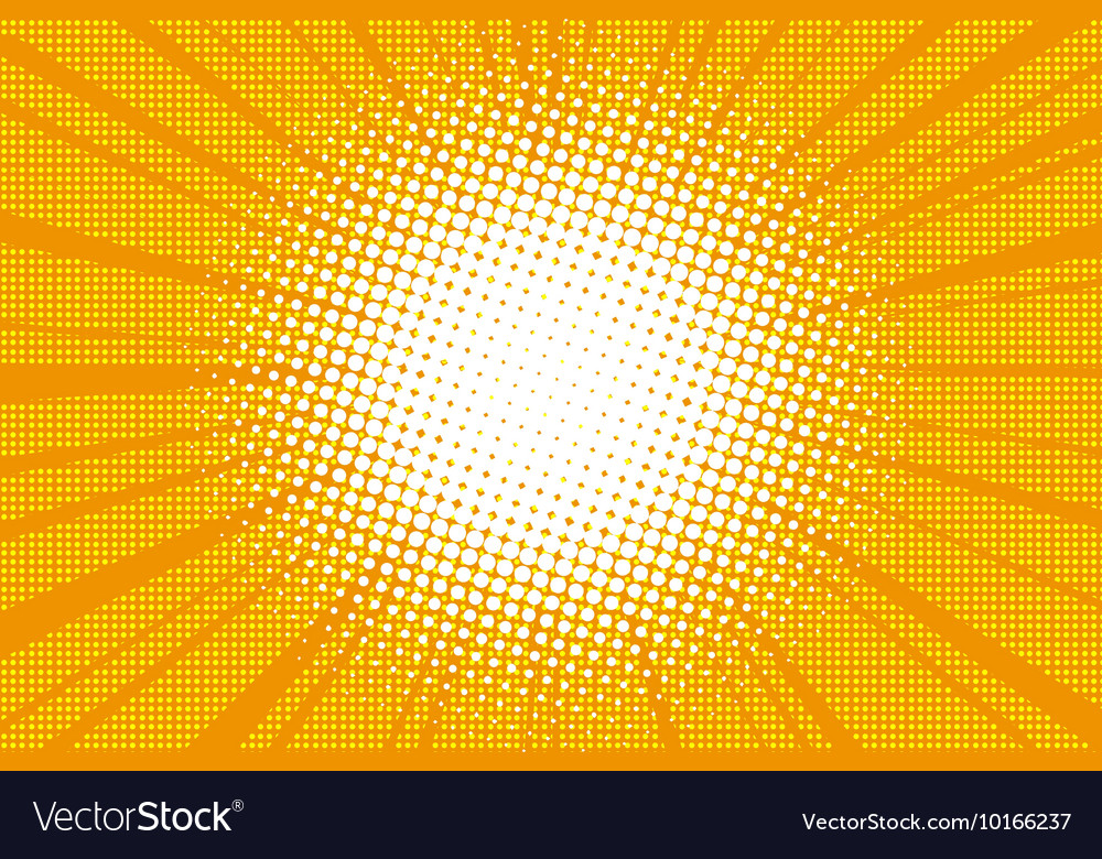 Sun comic book retro pop art background vector