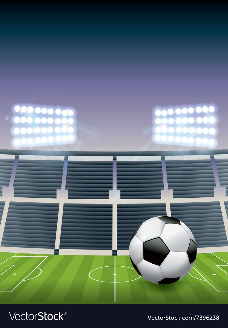 Soccer football stadium vector