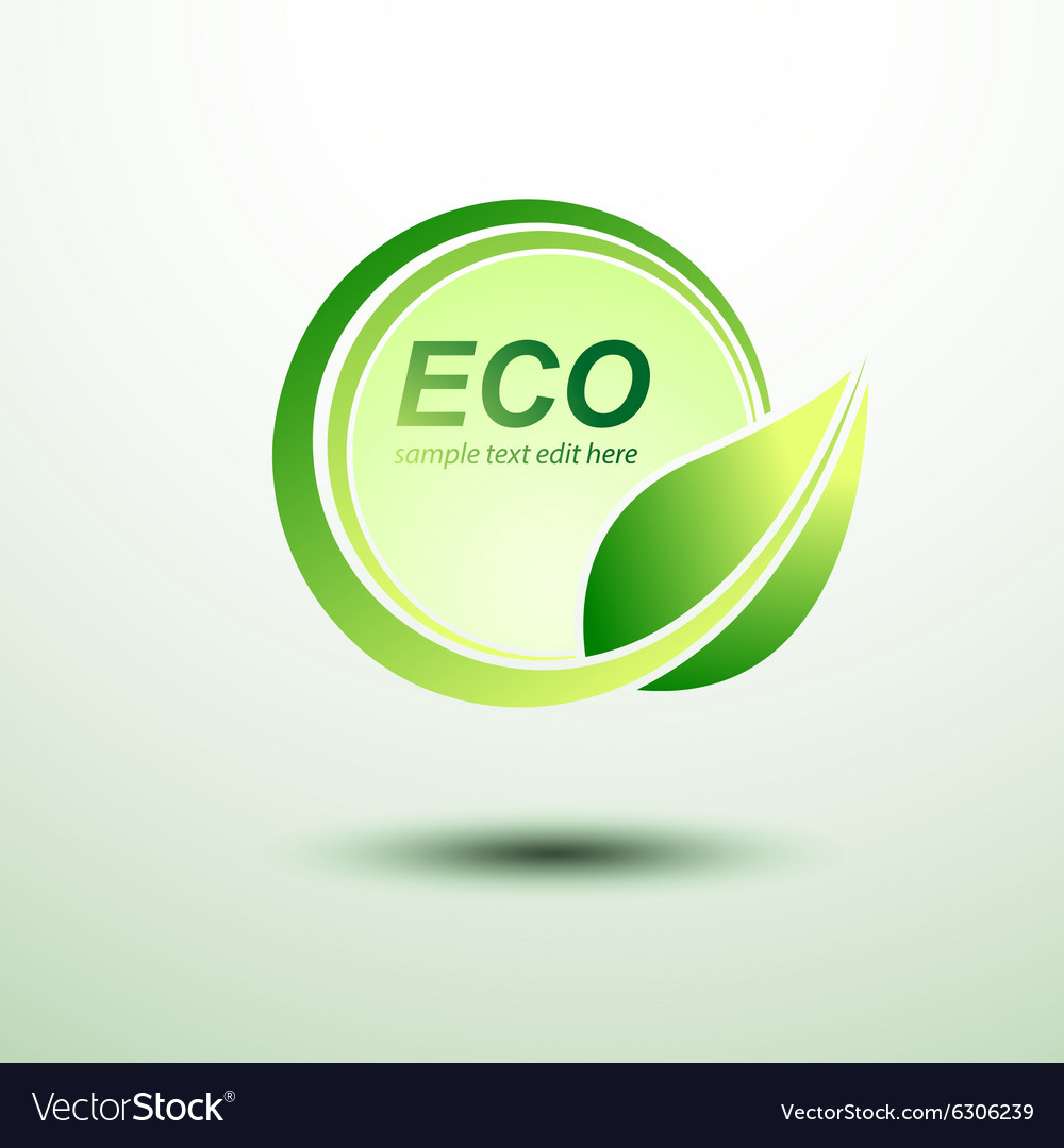 Eco labels vector