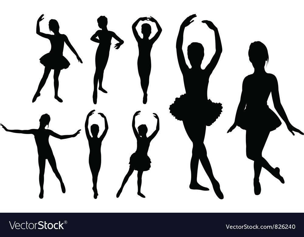 Ballet girls vector