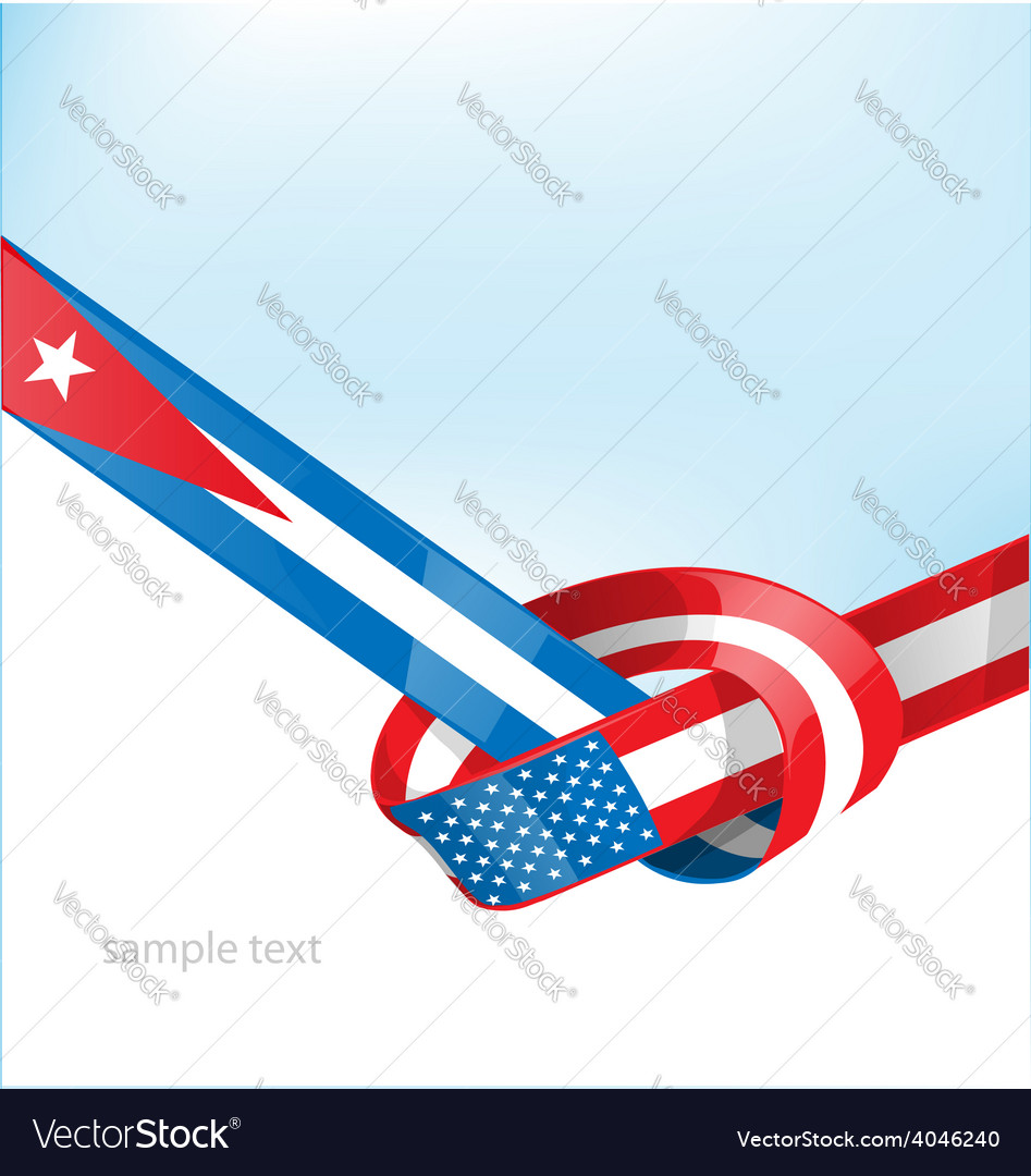 Cuba and usa flag on background vector