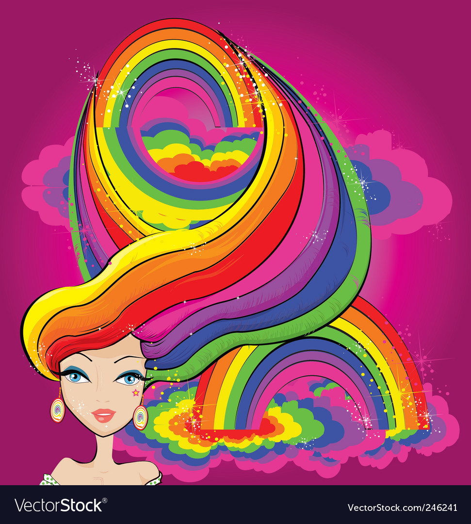 Rainbow girl vector