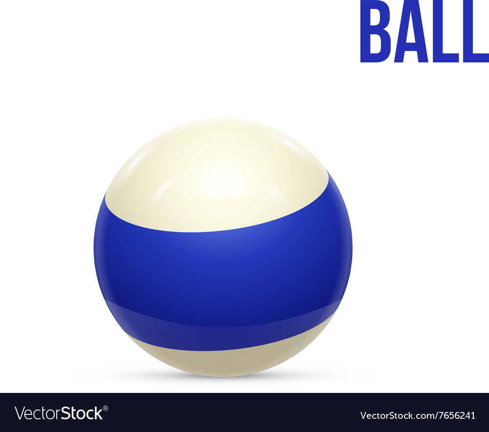 Striped ball 3d sphere with texture ball isolated vector